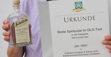 DLG prämierter Schätzle Gin 1893