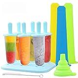 TedGem Eisformen, 6 Stück Eis am Stiel BPA Frei + 3 Stück...