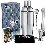 Cocktail Shaker von Grand – 6er Set Cocktail Set Zubehör...