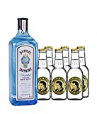 Bombay Sapphire Gin (1 x 1.0 l) mit Fever-Tree Indian Tonic...