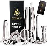11-Teiliges Boston Cocktailshaker Bar Set von VinoBravo:...