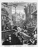 Spiffing Prints William Hogarth - Gin Lane - Extra Large -...