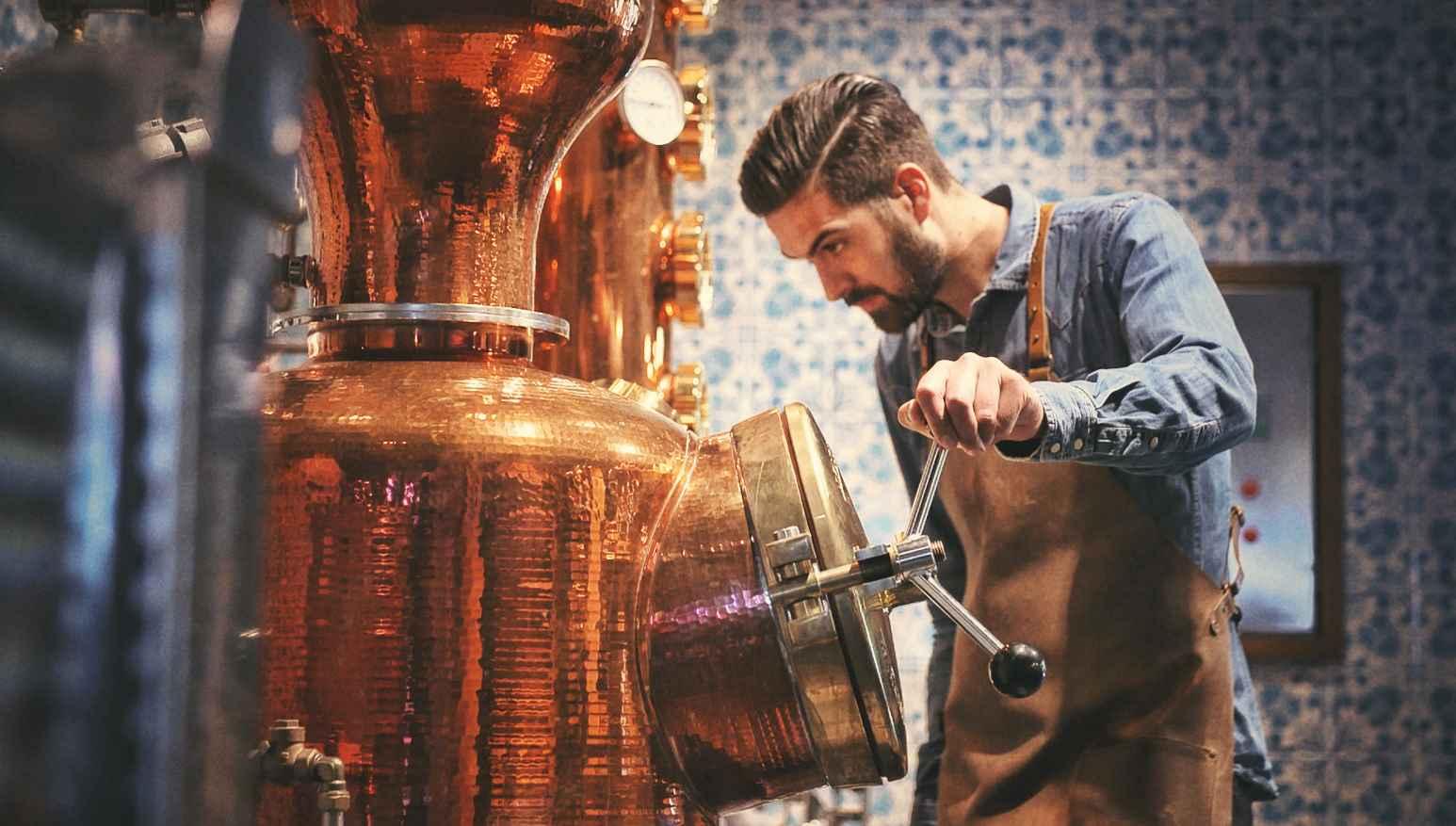 Destillation des Gin Sul