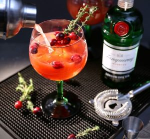 Cranberry Cocktail mit Tanqueray Gin