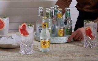 Gin Tonic mit verschiedenen Fever Tree Flaschen