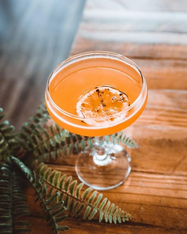 Pegu Club Cocktail mit Orangenscheibe