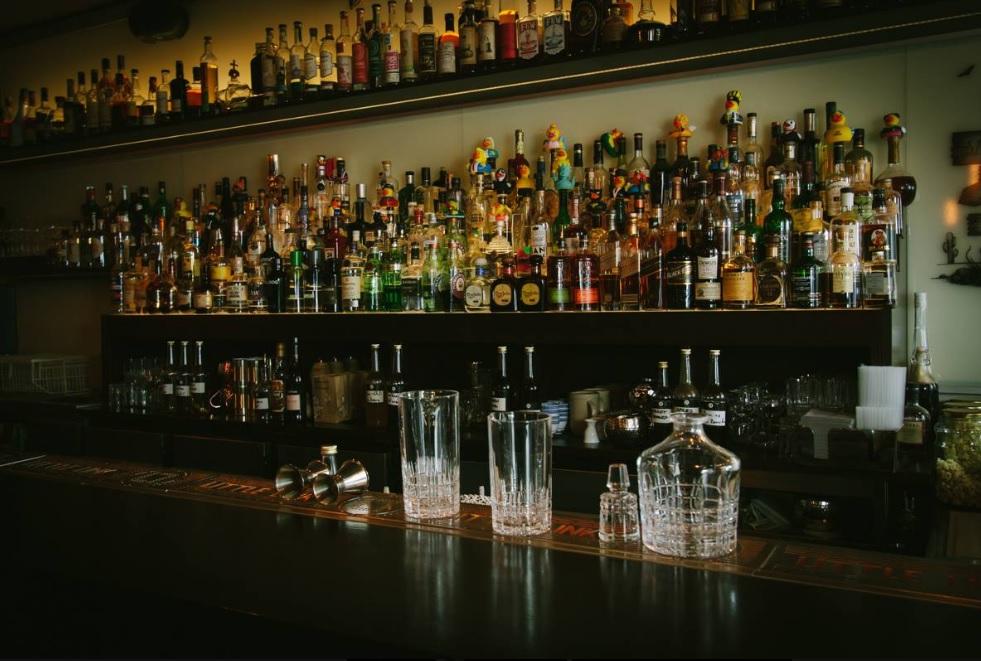 Spirituosen im Little Link, der Gin-Bar aus Köln