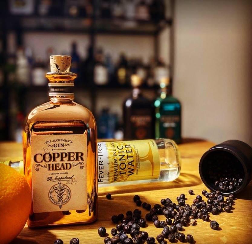 Copper Gin Flasche mit Tonic Water im Test