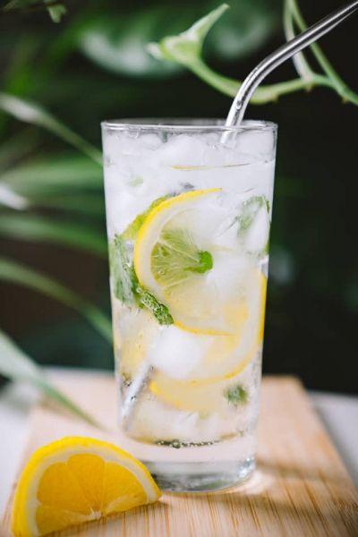 Gin Fizz Cocktail mit Zitrone und Sipsmith Gin